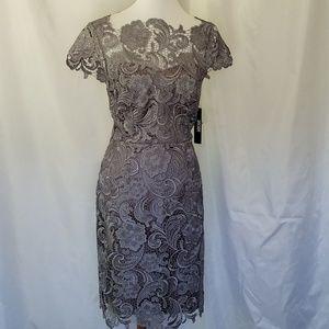 Decode 1.8 Silver Gray Lace bodycon dress